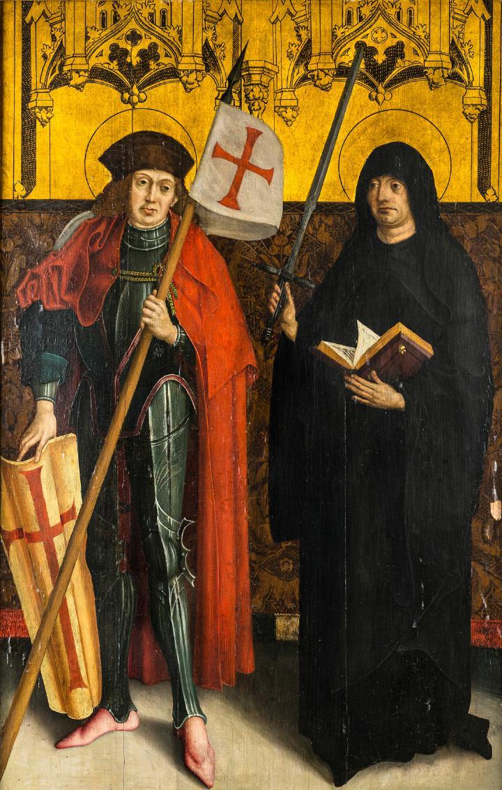 Zwei Altarflügel, Schweizer Meister, 15./16. Jh.